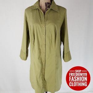 Lane Bryant | 3/4 Sleeve Button Up Shirtdress (16)